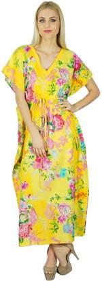 Bimba Women Short Cotton Custom Kaftan Kimono Sleeve Nightwear Beach Coverup