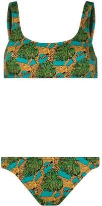 Reina Olga Jungle Fever-print bikini