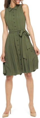 Gal Meets Glam Gwen Button Front Smocked Back Shirtdress