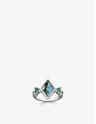 9d6b668a3ba3 Thomas Sabo Zig-Zag sterling silver and abalone mother-of-pearl ring