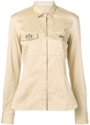 Ermanno Scervino brooch embellished shirt