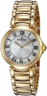 Edox Women's 57002 37RM AR LaPassion Analog Display Swiss Quartz Rose Gold Watch