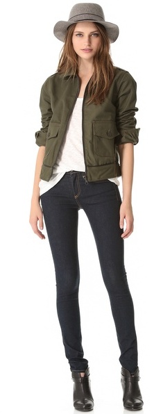 Rag and Bone The High Rise Skinny Jeans
