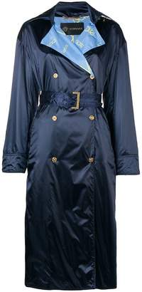 Versace embellished trench coat