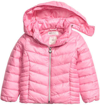 H&M Padded Jacket with Hood - Pink