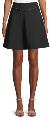 Kate Spade Crepe Studded Mini Skirt