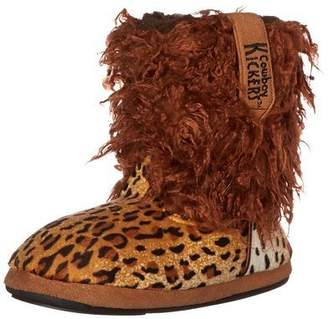 Kickers Cowboy Wooly Cheetah Slippers for Women L/8-9