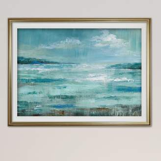Three Posts 'Isle Inlet' Oil Painting Print Format: Silver Framed,