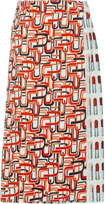 Prada a-line printed skirt