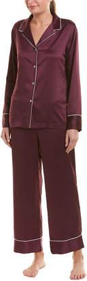 Natori 2Pc Feather Satin Essential Pajama Set