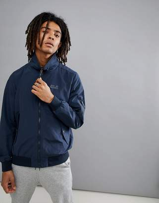 Jack Wolfskin Huntington Harrington Jacket In Navy