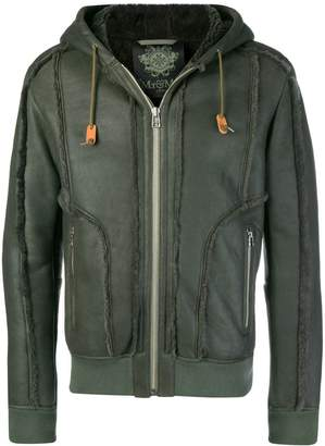 Mr & Mrs Italy raw-edged hooded leather jacket