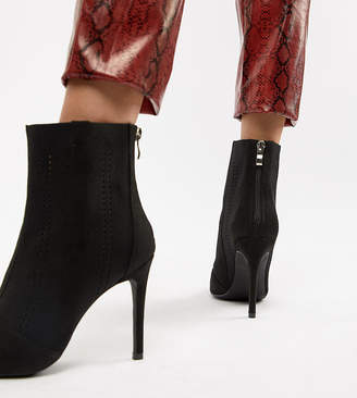 Truffle Collection Knitted Stilletto Ankle Boots