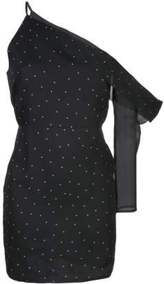 Mason by Michelle Mason asymmetric sleeve mini dress