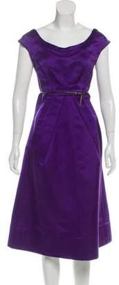 Marc Jacobs Structured Sleeveless Midi Dress