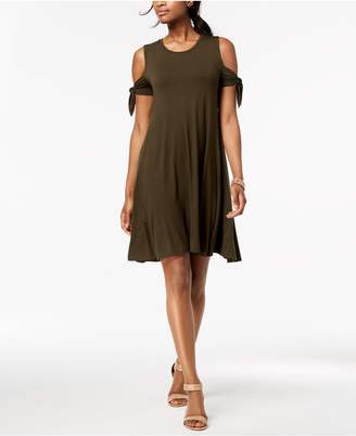 Style&Co. Style & Co Cold-Shoulder Swing Dress, Created for Macy's