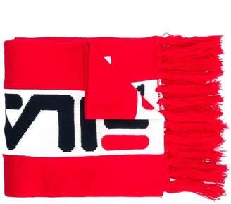 Fila logo fringed scarf