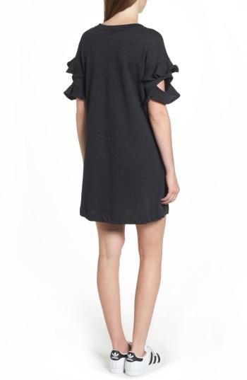 Women's Lush Ruffle Cutout Sweatshirt Dress 2