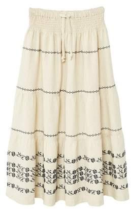 MANGO Embroidered motifs midi skirt