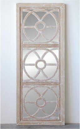 3r Studio Rectangle Wood & Glass Wall Mirror