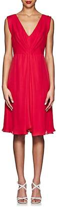 Giorgio Armani WOMEN'S SILK PLEATED DRESS - RED SIZE 40 IT
