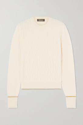 Loro Piana Cable-knit Cashmere Sweater - Ivory