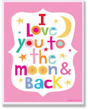 Viv + Rae Stella Pink I Love You To The Moon and Back Wall Plaque