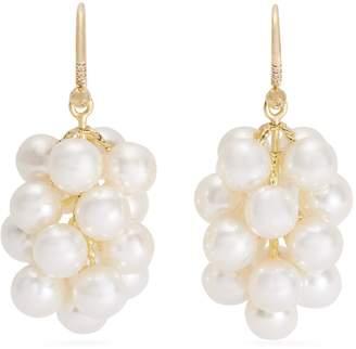 Irene Neuwirth Akoya-pearl and yellow-gold earrings