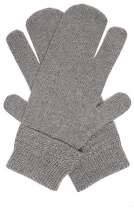 Maison Margiela Split Wool Blend Mittens - Mens - Dark Grey