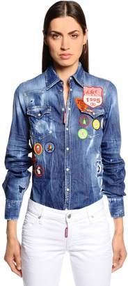 DSQUARED2 Scout Patches Washed Denim Shirt