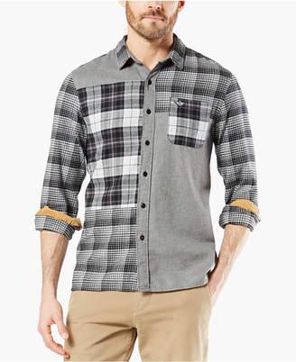 Dockers Men Alpha Modern-Fit All Seasons Tech Mixed Flannel Shirt