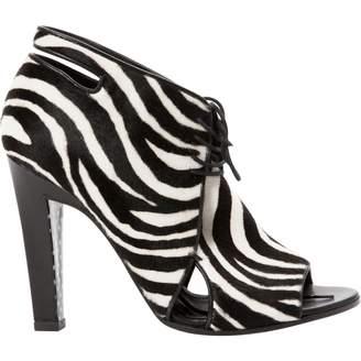 Ungaro Black Pony-style calfskin Ankle boots
