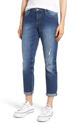 Prosperity Denim Ripped Girlfriend Jeans