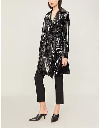 Galvan Gloss patent trench coat