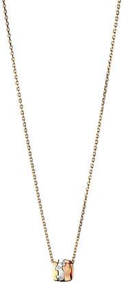 Georg Jensen Fusion 18ct white, yellow and rose gold diamond pendant necklace, Yg/rg/wg