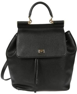 3d1e2572ed at Italist · Dolce   Gabbana Dolce  u0026 Gabbana Pebbled Sicily Backpack