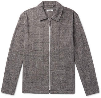 Très Bien Prince Of Wales Checked Cotton And Wool-Blend Blouson Jacket