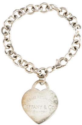 Tiffany & Co. Large Return To Tiffany Heart Tag Charm Bracelet $145 thestylecure.com