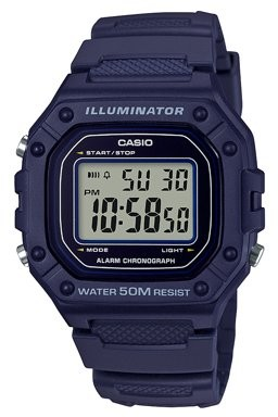 Casio Men's Large Case Digital Watch - W218H-2A