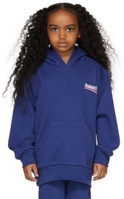 Balenciaga Girl Blue Campaign Logo Hoodie