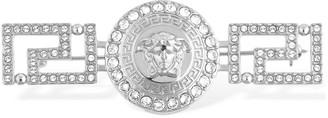 Versace Greek Motif Brooch W/ Crystals