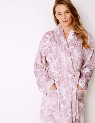 Marks and Spencer Fleece Floral Print Dressing gown