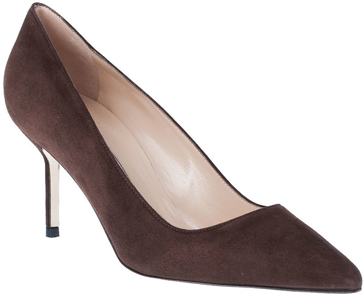 Manolo Blahnik BB70 brown suede pump