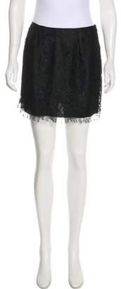 Philosophy di Alberta Ferretti Lace Mini Skirt