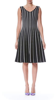 Carolina Herrera Striped A-Line Knit Dress