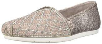 Skechers BOBS Women's Luxe Pears and Rhinestone Slip on Ballet Flat