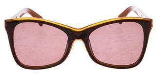 Karen Walker Cat-Eye Tinted Sunglasses
