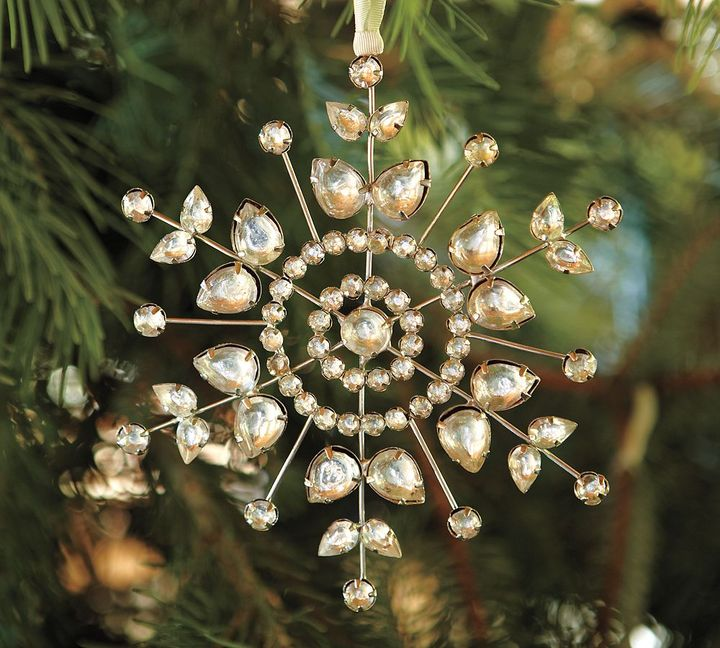 Jeweled Pointed Snowflake Ornament