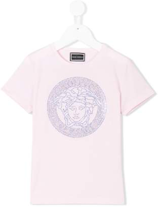 Versace rhinestone Medusa print T-shirt