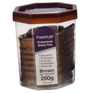 Freestyle Professional Bobby Pins Brown 250 g